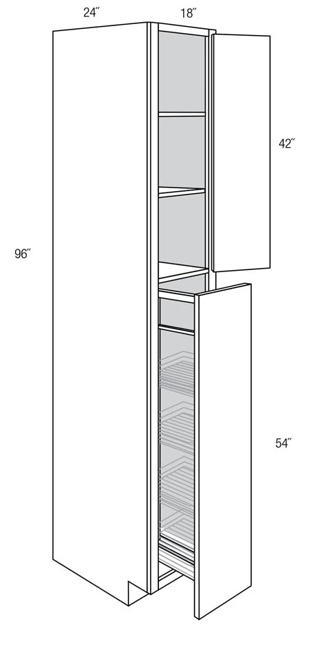 wp1896po pull out pantry cabinet dover rta kitchen cabinet