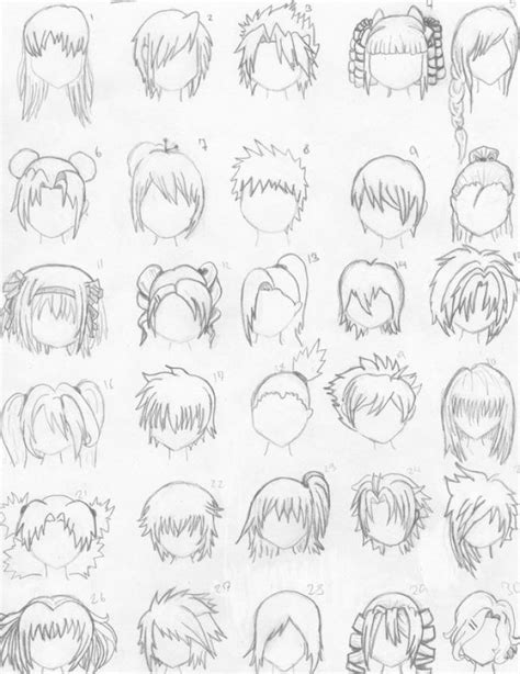 anime hairstyles for school how to draw anime hair styles 1 school pinterest