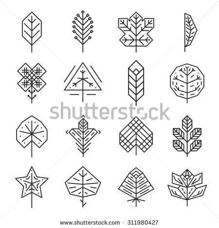 leaf pattern geometric hipster geometric leaf google search tattoos
