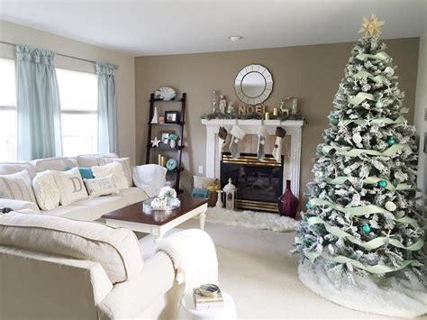 coastal xmas decor home tours coastal decorations living room tour 2015 charmaine dulak