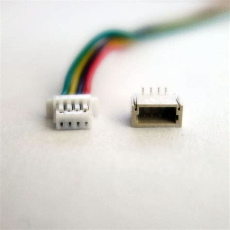 jst sh 4 pin connectors 1 0mm pin spacing w 100mm wires