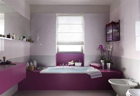 Purple white feminine bathroom design interior design ideas
