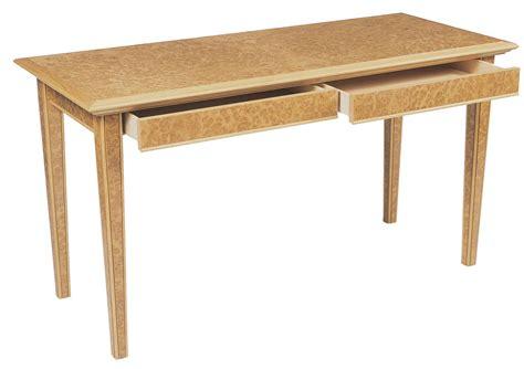 writing desk in burr oak makers eye