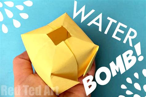 How To Make Easy Paper Toys - diy paper water bombs origami ted s