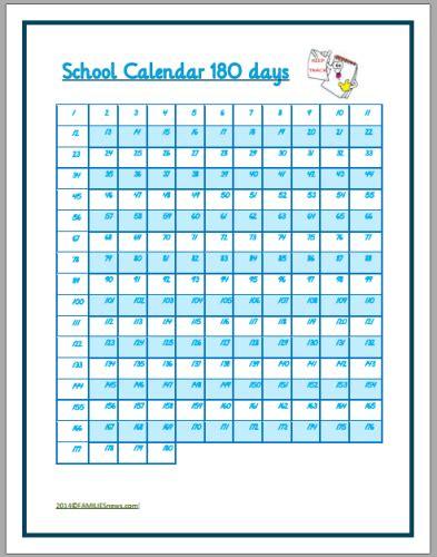 180 Day Calendar Blank Calendar Sheet 6 Month Calendar Template 2016