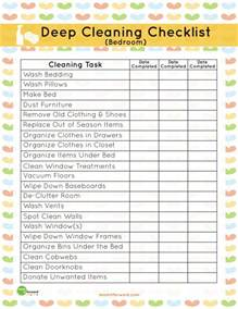 cleaning checklist printable printable deep cleaning bedroom checklist mom it forward