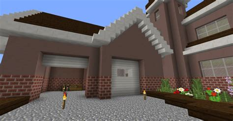 building house ideas realistic garage doors minecraft building inc