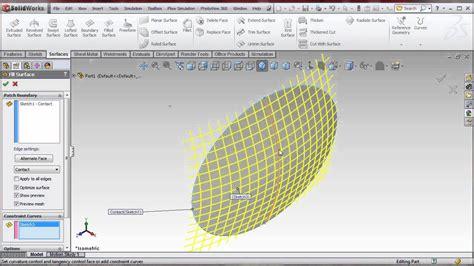 solidworks pattern making solidworks filled surface ellipse tank cap youtube