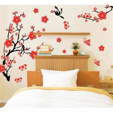 self adhesive wall decoration sticker blossom flowers tree wall stickers mural decal self adhesive wallpaper decor in wall