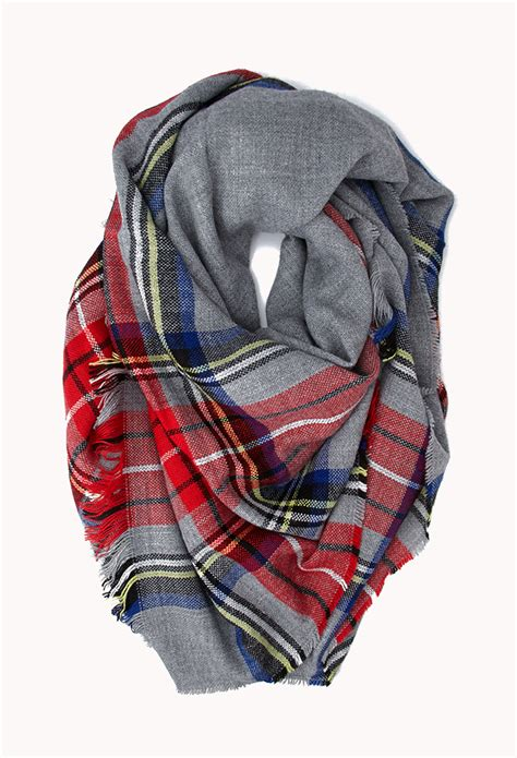 Kemeja Flannel Classic Tartan Square Brown 1 forever 21 classic plaid square scarf in gray lyst