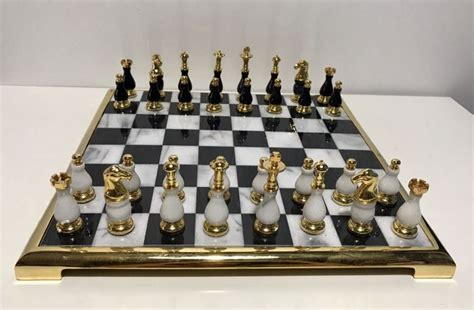 marble chess set gold and marble chess set catawiki