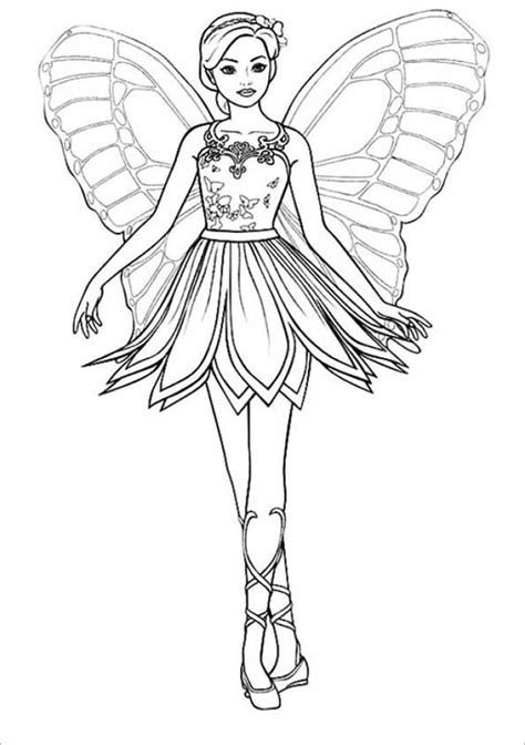 Get This Easy Printable Barbie Coloring Pages for Children