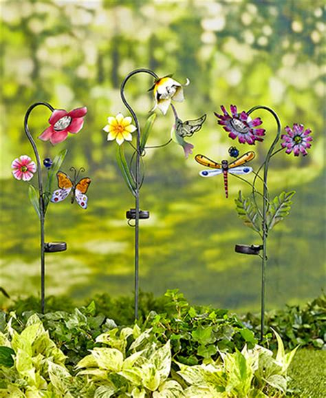 Solar Garden Flowers Solar Flower Stakes The Lakeside Collection