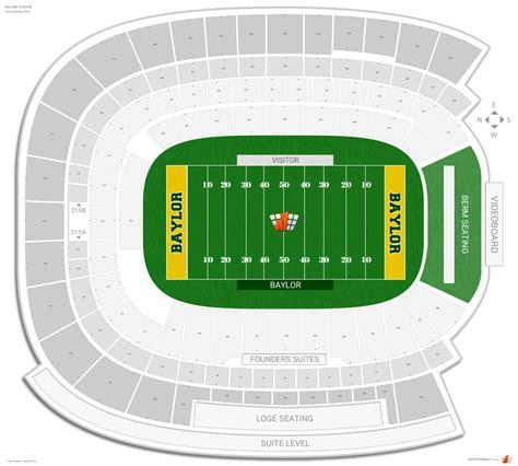 mclane stadium seating chart mclane stadium baylor seating guide rateyourseats