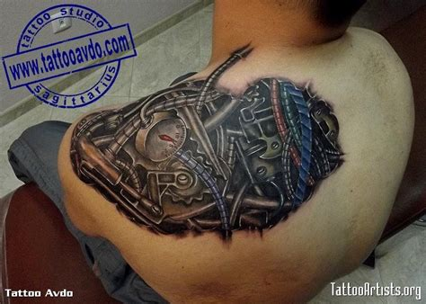 biomechanical shoulder tattoo designs 41 mechanical tattoos on shoulder