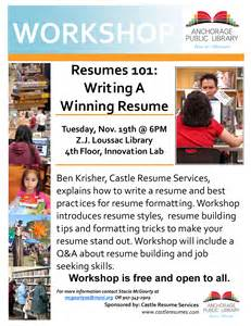 Resume Writing Workshop Flyer Free Resume Writing Workshop Que Pasa Anchorage