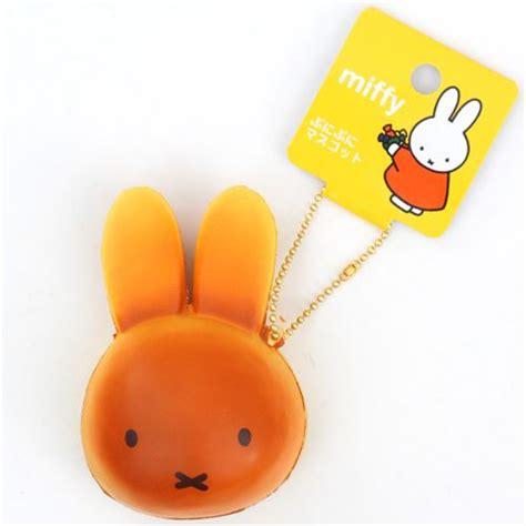 Rabbit Bun Squishy brown miffy bunny rabbit bread bun squishy for bag backpack food squishies squishies shop