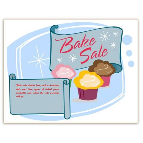 free printable bake sale flyers cliparts co