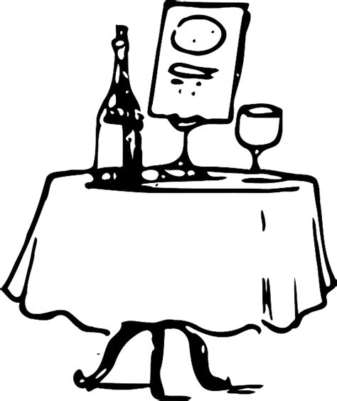 clipart cena table wine dinner 183 free vector graphic on pixabay