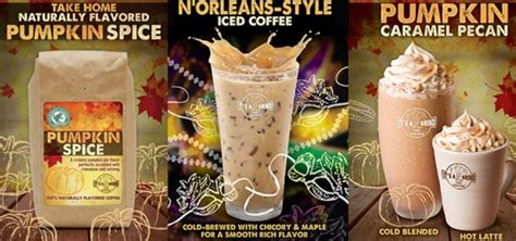 try new coffee flavors this fall fall into flavor n orleans iced coffee and pumpkin