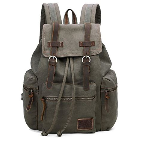 Shimon Travel Bag Outdoor Backpack Import Canvas vintage canvas backpack outdoor hiking travel rucksack 19l import it all