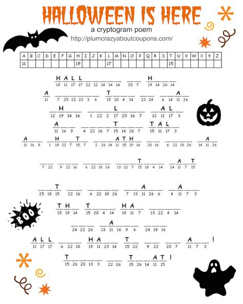 free halloween printable games for adults halloween cryptograms related keywords halloween