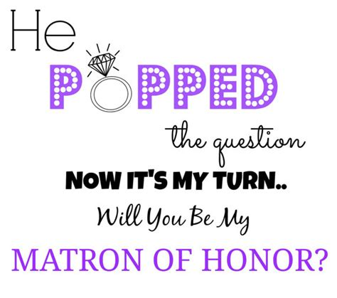 will you be my of honor template will you be my of honor template items similar to purple