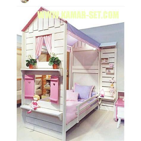 Tempat Tidur Tingkat Kayu Olympic tempat tidur tingkat perempuan model rumah kamar set