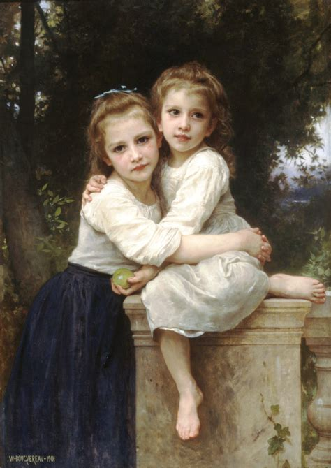 By William Bouguereau Two Sisters | two sisters 1901 william adolphe bouguereau wikiart org