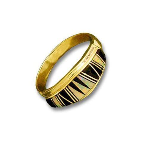 14k gold inlay mens opal ring rings gold jewlery jewlery