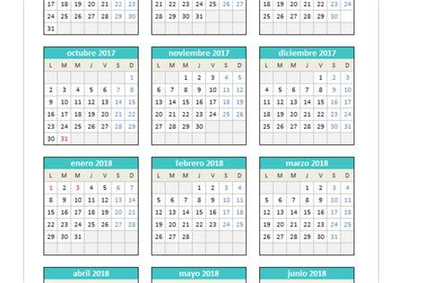 Calend 2017 Feriados Em Excel Calendario 2017 2018 En Excel Planillaexcel