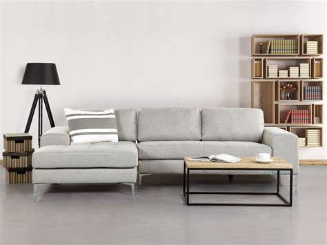 sofa mit ottomane corner sofa upholstered chaise longue light grey