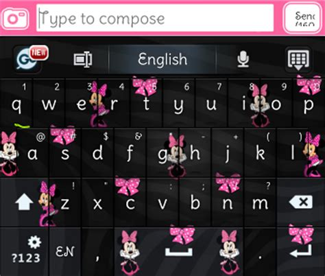 go keyboard themes minnie mouse pretty droid themes minnie go keyboard skin