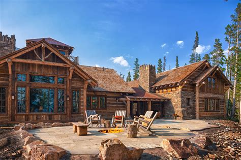 Big Cabins Foxtail Residence Big Sky Log Cabins By Teton Heritage