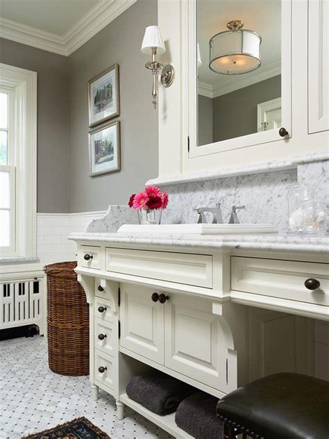 Rockport Gray   Transitional   bathroom   Benjamin Moore