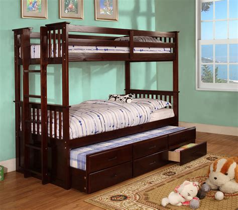 Bunk Bed With Trundle And Drawers Bunk Bed With Trundle Drawers