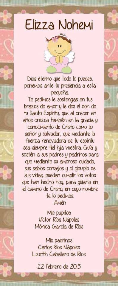 oraciones en miniatura de bautizo oraciones bautizo pink love pinterest