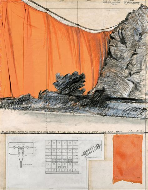christo and jeanne claude valley curtain christo and jeanne one artist in two bodies idaaf