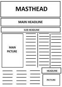 newspaper article layout template best photos of front page newspaper template blank front