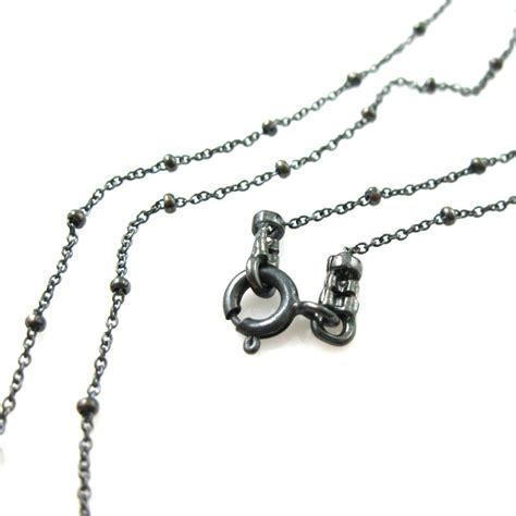 oxidized silver necklace oxidized sterling silver chain