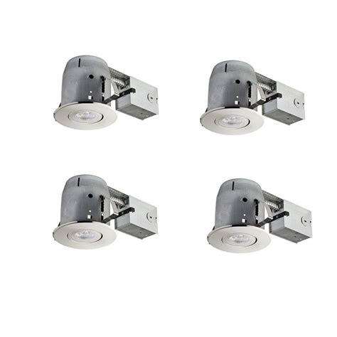 globe electric recessed lighting installation globe electric 4 in brushed nickel led ic rated swivel