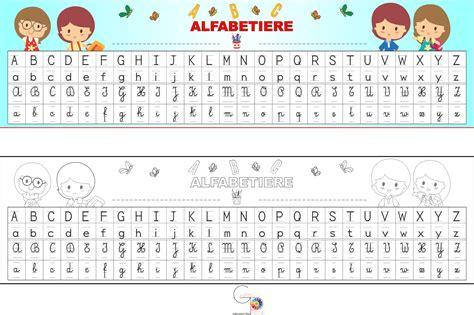 alfabeto completo di lettere straniere alfabetiere con i 4 caratteri gabryportal
