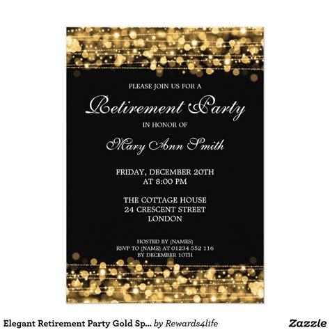 retirement invitation card template retirement gold sparkles card retirement