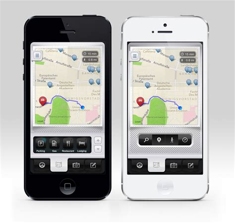 design room app iphone parkbud for iphone map screen iphone 5 app design ui