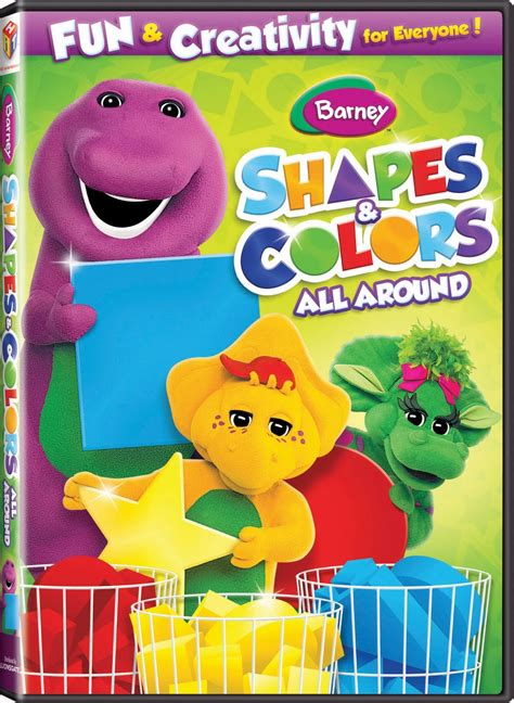 barney colors all around barney shapes colors all around dvd