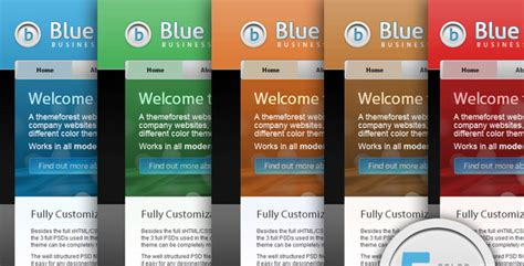 colour themes website blue business business theme 5 color schemes by ghinda