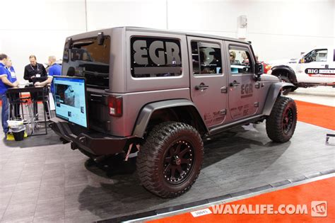 charcoal grey jeep rubicon 2012 sema egr charcoal 4 door jeep jk wrangler