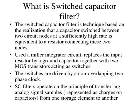 switched capacitor filter analog devices switched capacitor filter