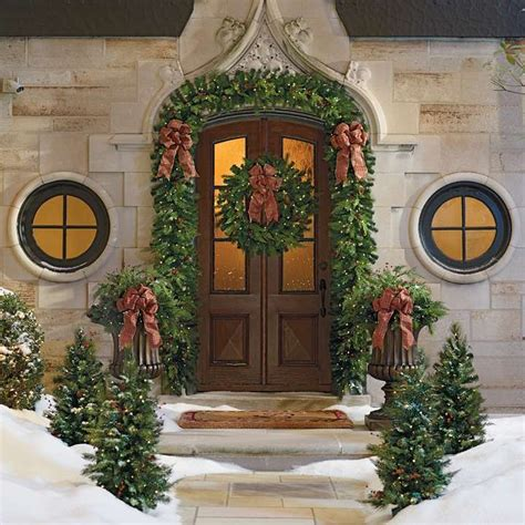 winter pine outdoor greenery collection  frontgate