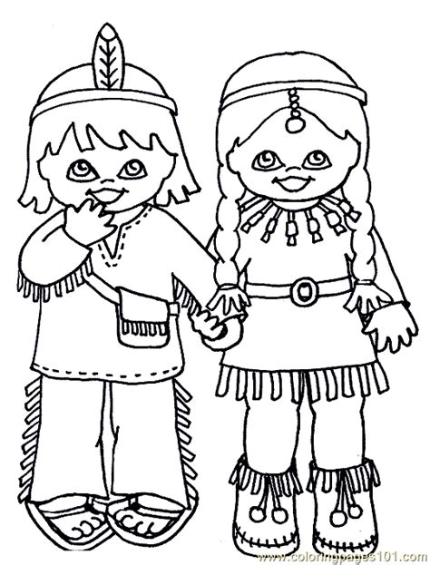 preschool indian coloring page indian coloring sheets free printable coloring page